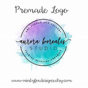 Premade Watercolor Logo, Watercolor Badge Logo, Business ...
