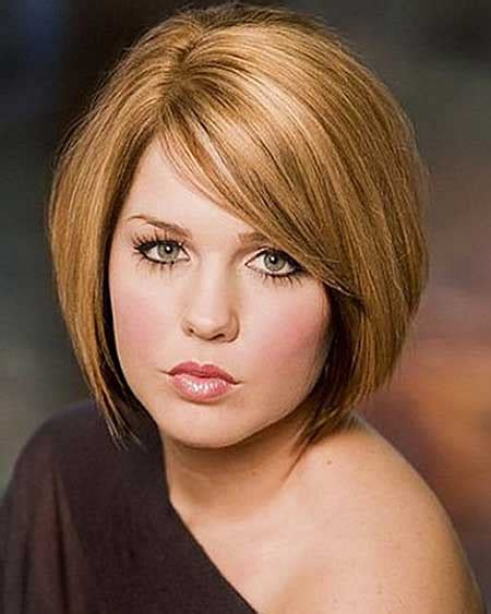 short haircut ideas  chubby faces short