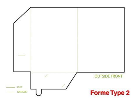 Printed Presentation Folder A4 Template 2 Folder
