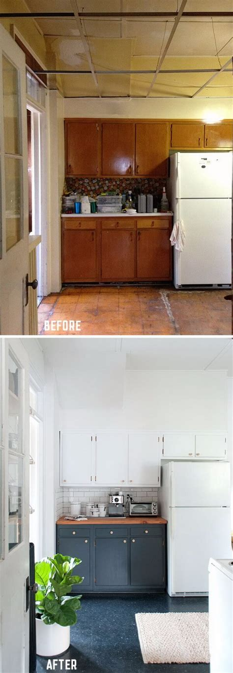 kitchen cabinet door makeover 25 before and after budget friendly kitchen makeover 5289