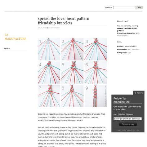 spread  love heart pattern friendship bracelets