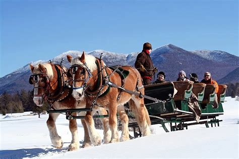 sleigh ny upstate rides places newyorkupstate lake placid winter