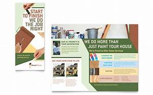 painter painting contractor brochure template design With painting flyers templates free