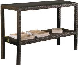 kitchen island with butcher block top brown outdoor wicker console table with storage and