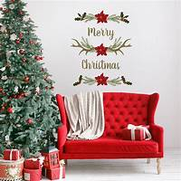 perfect christmas wall decals Merry Christmas Antlers Wall Decals - Paper Riot
