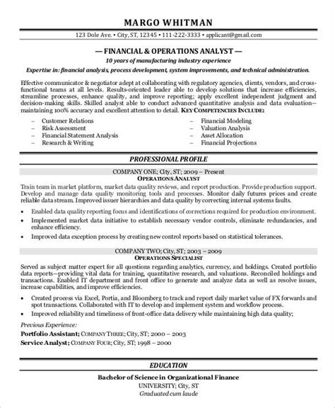 Financial Analyst Resume Template Free by 20 Finance Resume Templates Pdf Doc Free Premium