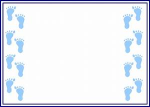 Footprint Border Clip Art | Click here for more Baby ...