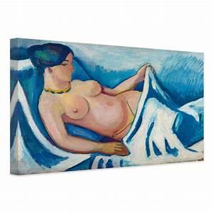 Akt Auf Leinwand : kunstdruck august macke liegender weiblicher akt auf leinwand als dekoration wall ~ Sanjose-hotels-ca.com Haus und Dekorationen