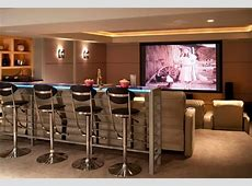 Home Theater as Addition to Large Modern Interior Small