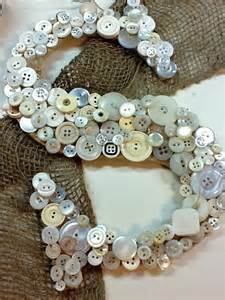 DIY Button Letter Crafts