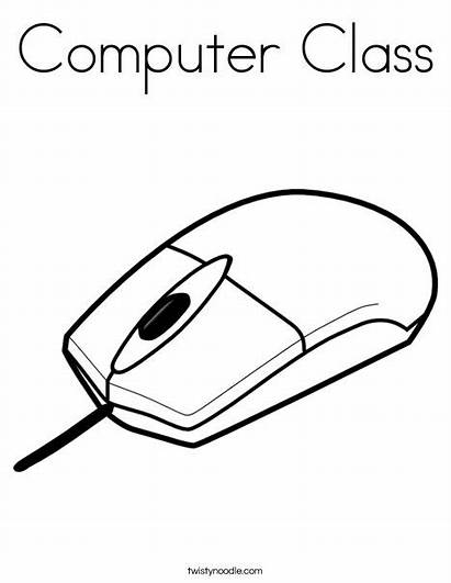 Computer Coloring Mouse Parts Sketch Class Pages