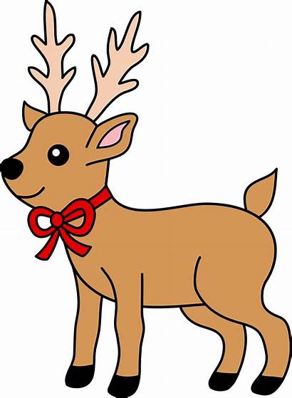 Reindeer Christmas Clip Ribbon Sweetclipart