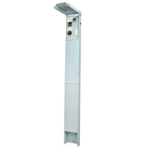 rv electrical pedestal ge rv earth buried pedastal 70 120 240 volt unmetered