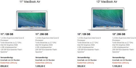 Apple MacBook Air 2014 Schneller und günstiger