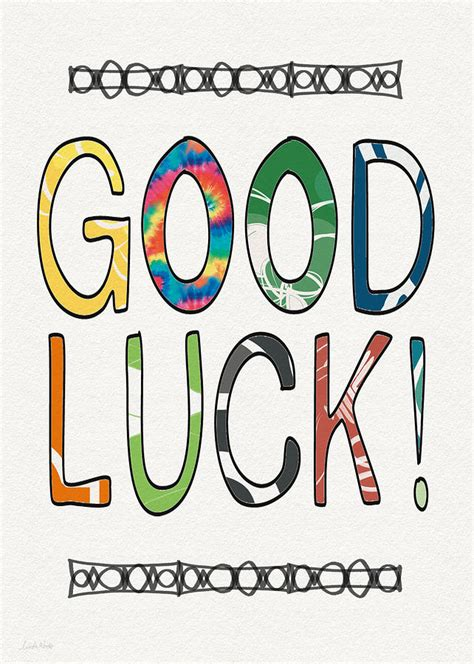 Good Luck Card Art By Linda Woods Mixed Media By Linda Woods