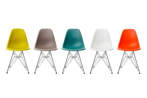 chaise de couleur vitra eames plastic side chair dsr by charles eames 1950 designer furniture by smow com