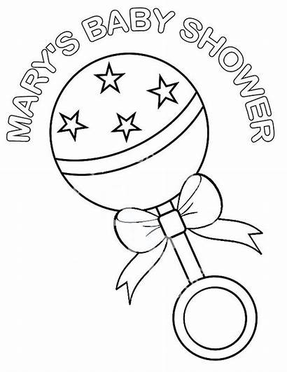 Shower Coloring Pages Printable Boy Para Personalized