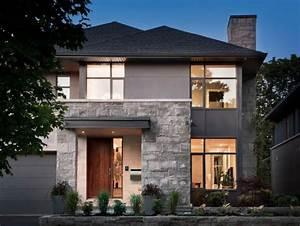 pierre de parement exterieur pour une facade moderne With maison en pierre design
