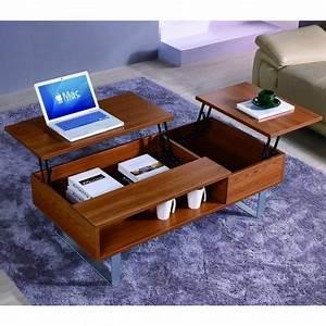 Table Basse Multifonction : table basse multifonction en bois mira achat vente ~ Premium-room.com Idées de Décoration