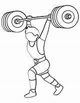 Weight Lifting Training Clipart Coloring Barbell Printable Cartoon Sheet Onlinecoloringpages Webstockreview Children sketch template