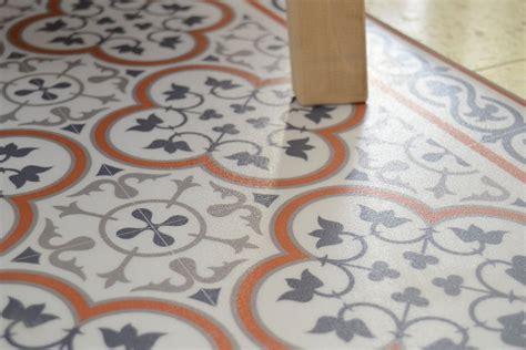 Linoleum Auf Fliesen by Pvc Vinyl Mat Tiles Pattern Decorative Linoleum Rug Orange
