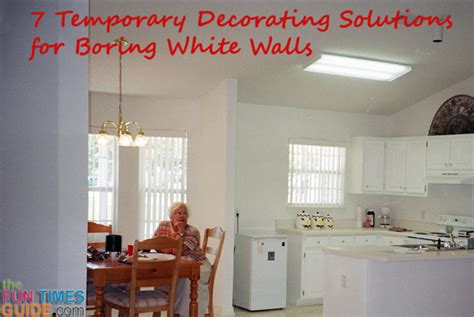 white wall decor 7 temporary decorating solutions for