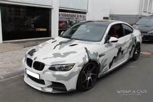 design folie auto bmw m3 camouflage folierung