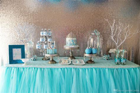 2019 aqua blue tutu table custom made wedding supplies sashes tulle wedding party