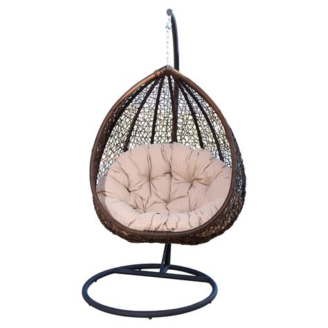 Swing Chair Stand by Abbyson Living Outdoor Wicker Swing Chair With