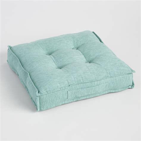 world market floor pillows chinois aqua khadi tufted floor cushion world market