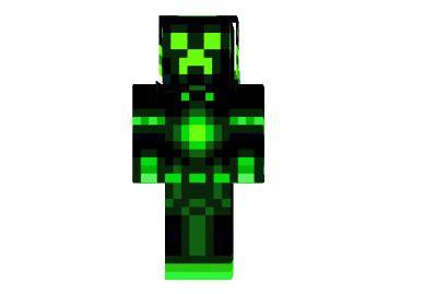 green neon creeper skin mod minecraftnet
