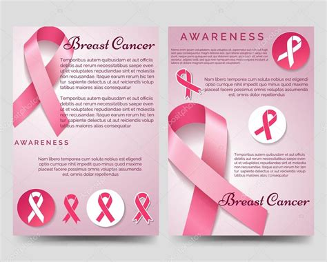 Free Breast Cancer Brochure Templates by Breast Cancer Awareness Brochure Template Stock Vector