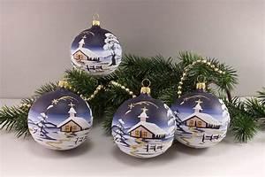 Weihnachtskugeln Aus Lauscha : weihnachtskugeln winterlandschaft nachtblau ~ Orissabook.com Haus und Dekorationen