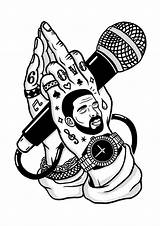 Drake Coloring Hip Hop God Dope Drawings Tattoo Buzzfeed Bottom sketch template