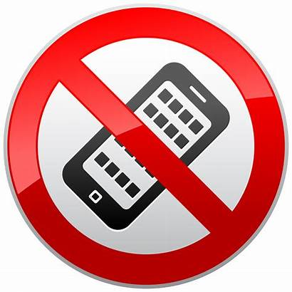 Mobile Sign Clipart Phones Prohibition Signs Cellphone