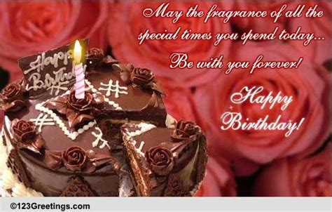 chocolate rose cake bday wishes  flowers ecards
