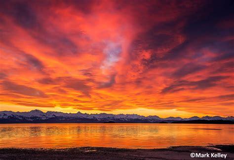 Sunset Surreal Eagle Beach Juneau Alaska Mark