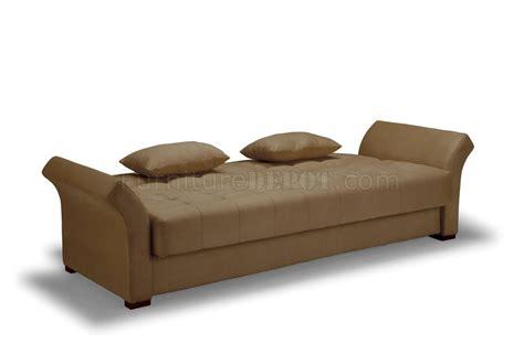 Click Clack by Click Clack Sofa Bed Convertible In Delux Khaki Microfiber