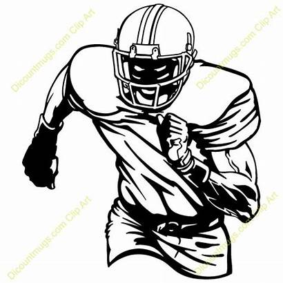 Football Player Clipart Lineman Receiver Players Drawing