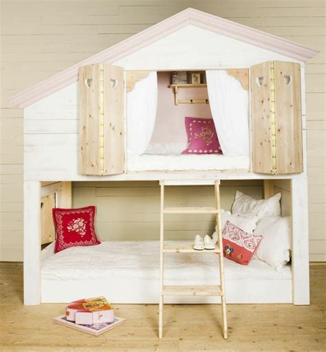 chambre cabane le lit cabane fille idées en images