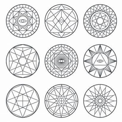 Alchemy Symbols Spiritual Vector Sacred Medieval Geometry