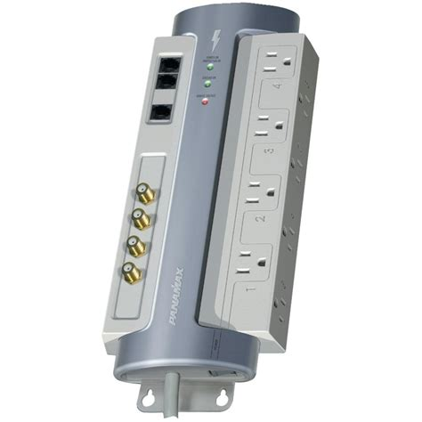 panamax surge protector panamax 8 outlet surge protector with satellite catv and 1407