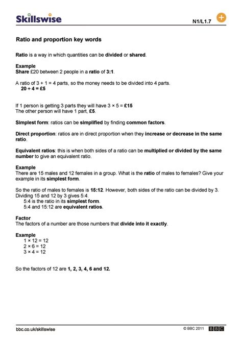 ratio and proportion worksheets ks2 ratio