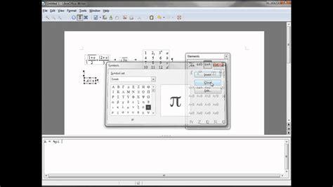 libreoffice writer  math formula matrix  greek