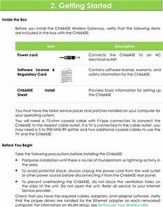 Compal Broand Networks Ch6643 Cable Modem User Manual