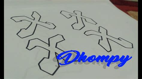 Abjad Graffiti T : Graffiti Abjad Letter X _ Dhompy Graffiti