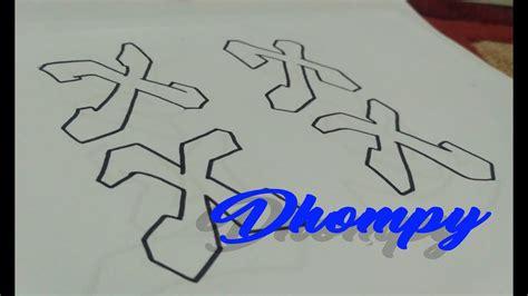 Huruf Abjad Graffiti 3d : Graffiti Abjad Letter X _ Dhompy Graffiti