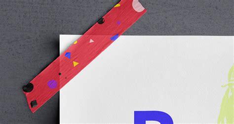 scotch tape psd poster mockup psd mock  templates pixeden