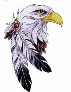 Bald+Eagle+Feathers | Eagle With Two Feathers Tattoo ...