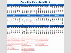 Calendario Argentina Año 2019 Feriados newspicturesxyz